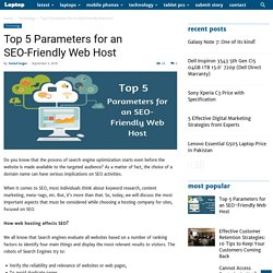 Top 5 Parameters for an SEO-Friendly Web Host lates