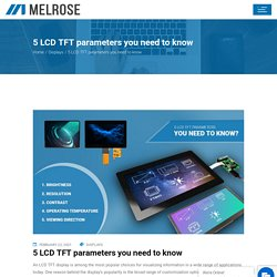 5 LCD TFT parameters you need to know - Melrose Systems