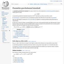 Paramètre gravitationnel standard
