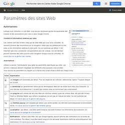 Paramètres des sites Web - Centre d'aide Google Chrome