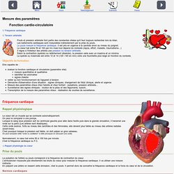 Mesure paramètres cardio-circulatoires
