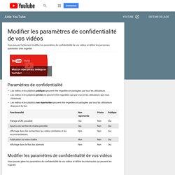 Modifier les paramètres de confidentialité de vos vidéos - iPhone et iPad - Aide YouTube