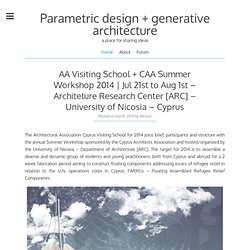 Parametric design & generative architecture