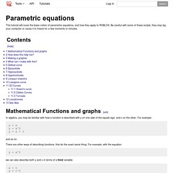 Parametric equations - Roblox Wiki