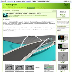 Model of Parametric Bridge Conceptual Design