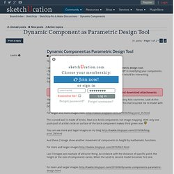 Dynamic Component as Parametric Design Tool