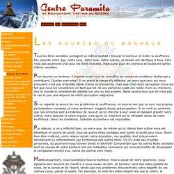 Centre Paramita de Bouddhisme Tibétain du Québec - Sources du bonheur
