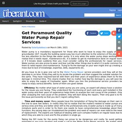 Get Paramount Quality Water Pump Repair Services