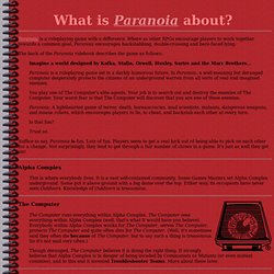 Paranoia: What's it all about?