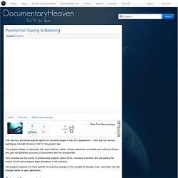 Paranormal: Seeing Is Believing | Documentary Heaven | Watch Free Documentaries Online