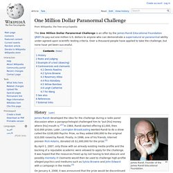 One Million Dollar Paranormal Challenge