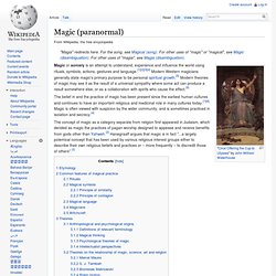 Magic (paranormal)