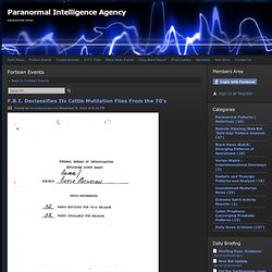 Paranormal Patterns ( Historical) - Paranormal Intelligence Agency
