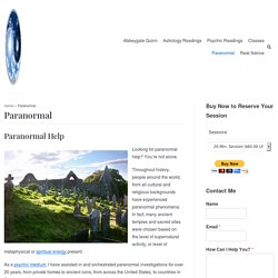 Paranormal Help - Michigan Psychic Medium Abbeygale Quinn