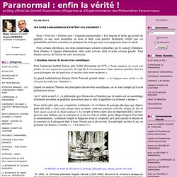 TESTS Capacités Paranormales BLOG Paranormal.blogspirit .com