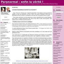TESTS Capacités Paranormales BLOG Paranormal.blogspirit .com