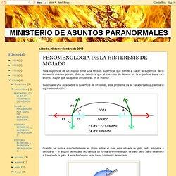 FENOMENOLOGIA DE LA HISTERESIS DE MOJADO