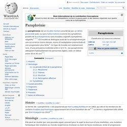 Paraphrénie