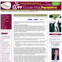 [Le site de l'APF sur les Paraplégies et tétraplégies] Dynamique de projet et lésion médullaire récente