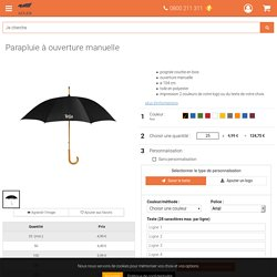 Parapluie à ouverture manuelle
