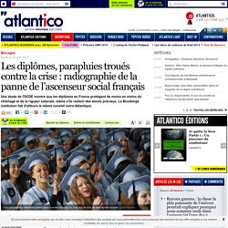 Les diplômes, parapluies troués contre la crise : radiographie de la panne de l'ascenseur social français