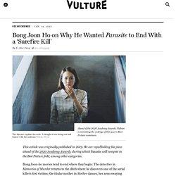 Parasite Ending Explained by Bong Joon-ho