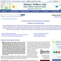 Worms and Parasites in humans and animals: natural herbal treatments