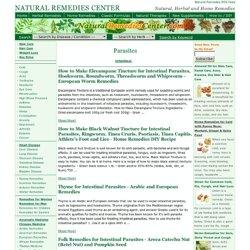 parasites, Natural Remedies Center