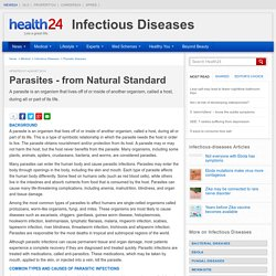 Parasites - from Natural Standard