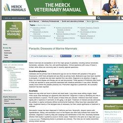 Parasitic Diseases of Marine Mammals: Marine Mammals: Merck Veterinary Manual