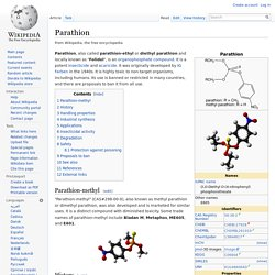 WIKIPEDIA ANGLOPHONE – Parathion.