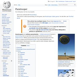 Paratrooper - Wikipedia