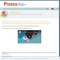 Jouer à «pixels au paravent», pour s'initier au codage de l'information. — Pixees