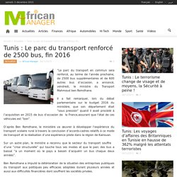 Le parc du transport renforcé de 2500 bus, fin 2016