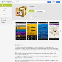 Parcels - Android Apps on Google Play