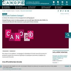 Les 3 univers éditoriaux Canopé