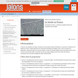 INA - La laïcité en France