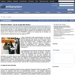 Parcours Avenir (Rapport IGAENR, juillet 2015)