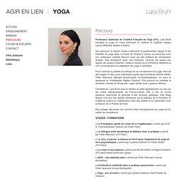 Agir en lien - Le parcours de Lara Bruhl - Enseignement du Yoga