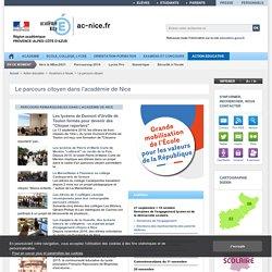 Le parcours citoyen dans l'académie de Nice