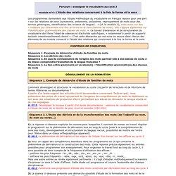 PARCOURS : LES COMPETENCES DE LECTEUR AU CYCLE 3