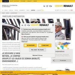 Parcours d'intégration des nouveaux salariés Renault