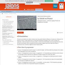 Parcours - La laïcité en France