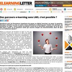 Des parcours e-learning sans LMS, c'est possible ?
