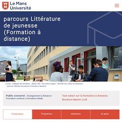 Parcours Littérature de jeunesse Univ Du Mans (Formation à distance)