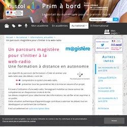 Un parcours magistère pour s'initier à la web-radio - Prim à bord