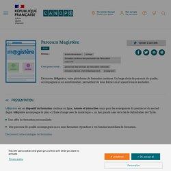 Parcours Magistère - Réseau Canopé