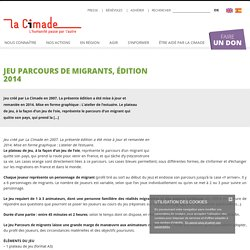 Jeu Parcours de migrants, édition 2014 - La Cimade