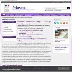 Parcours de découverte des métiers et des formations - Éducation à l'orientation au collège