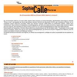 Parcours pédagogique : Sophie Calle